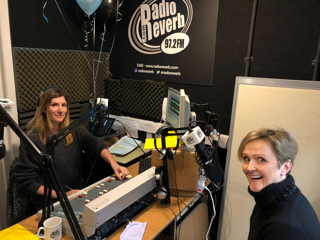 Josie Booth interviewing Brighton5 founder Daisy Cresswell on Radio Reverb